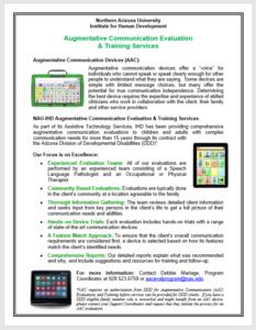 Screen Shot of AAC Program Flyer 7-16