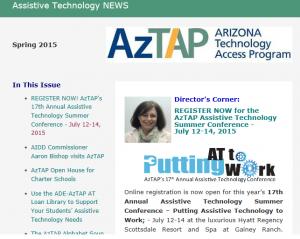 Spring 2015 Newsletter Screen Shot