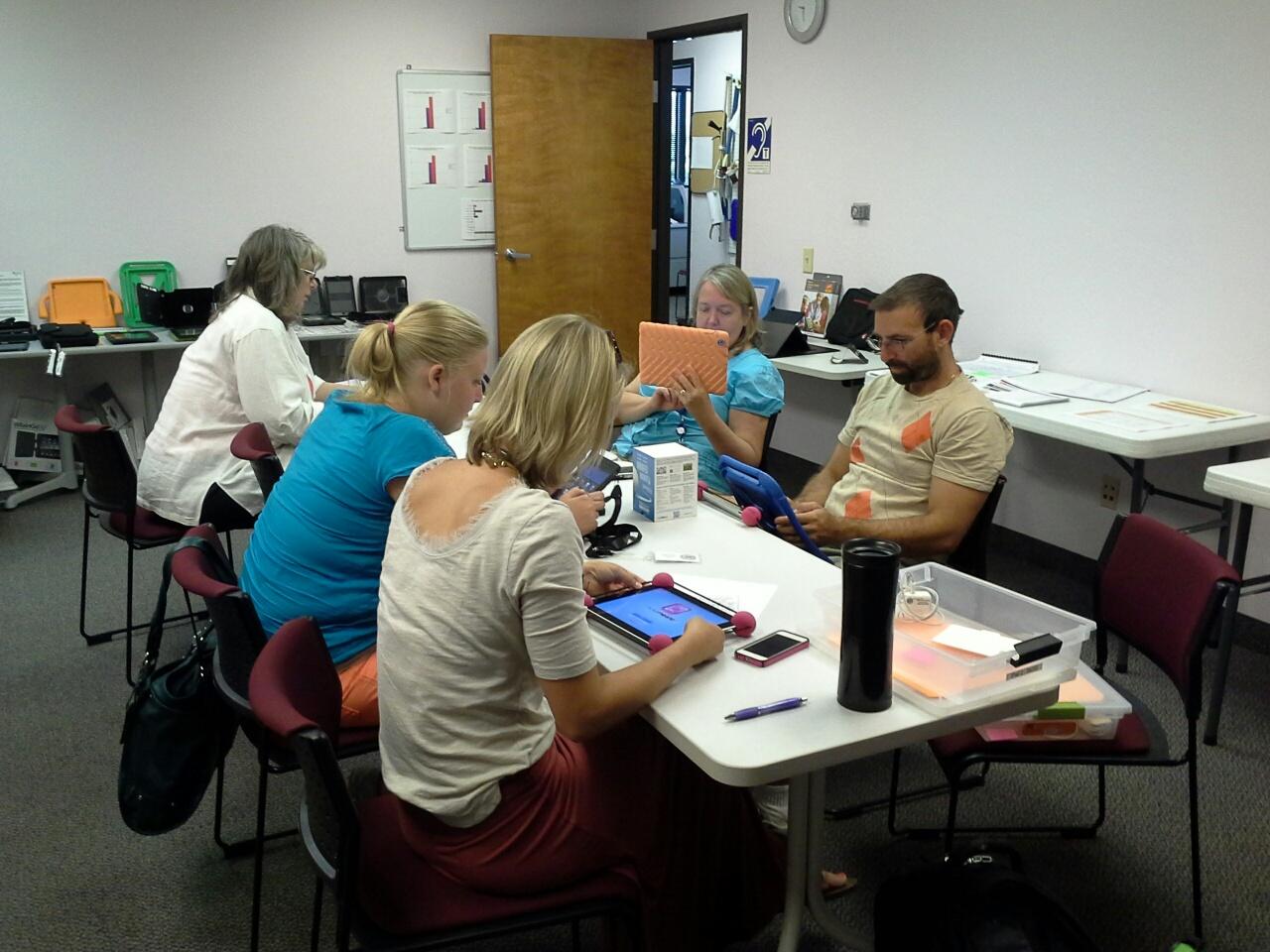 iPAD Training in the AzTAP Training Room